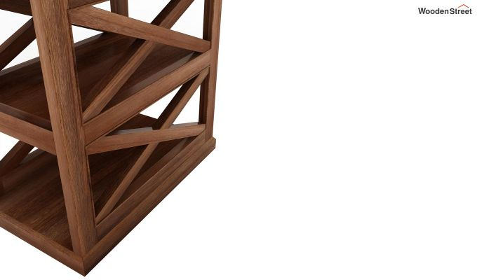 Scribble Chair Side End Table (Teak Finish)-5