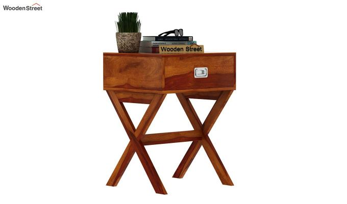 Snipe Side End Table (Honey Finish)-2
