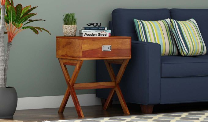 Snipe Side End Table (Honey Finish)-1