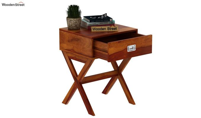 Snipe Side End Table (Honey Finish)-5