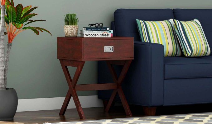 Snipe Side End Table (Mahogany Finish)-1