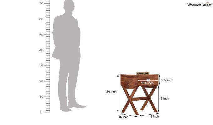 Snipe Side End Table (Teak Finish)-6
