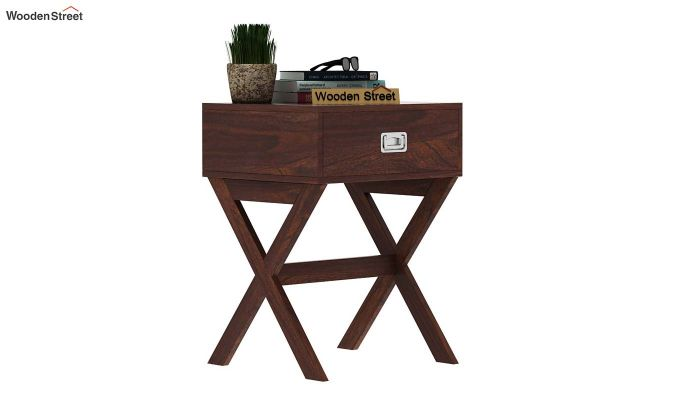 Snipe Side End Table (Walnut Finish)-2