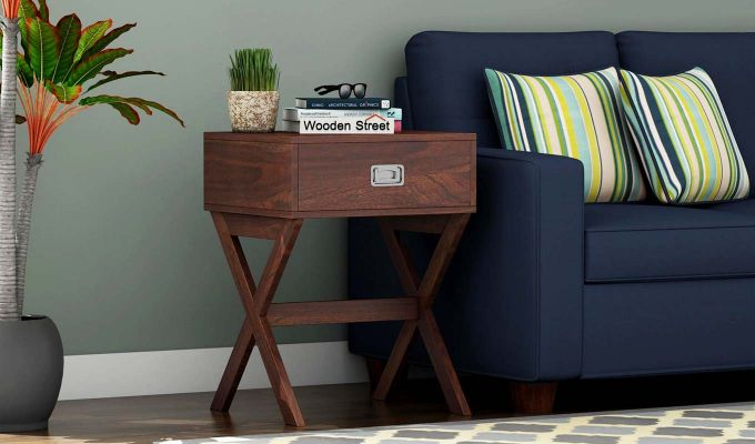 Snipe Side End Table (Walnut Finish)-1