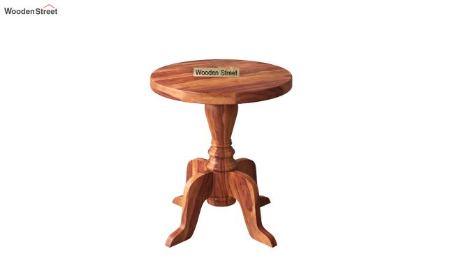 Tarlson Round End Table (Honey Finish)-2