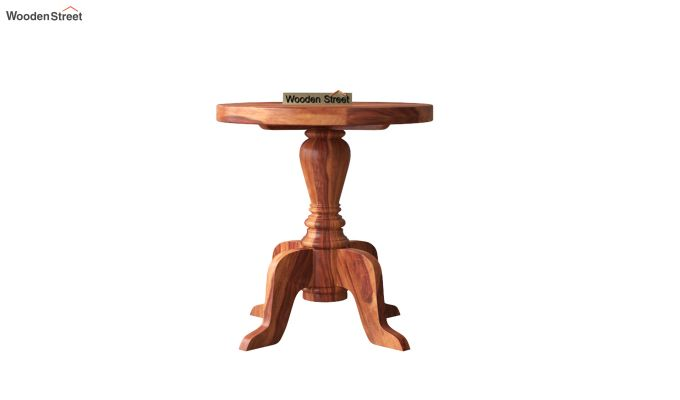 Tarlson Round End Table (Honey Finish)-3