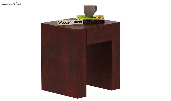 Vadis Chair Side Table (Mahogany Finish)-2