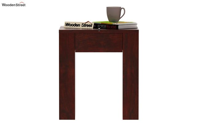 Vadis Chair Side Table (Mahogany Finish)-3