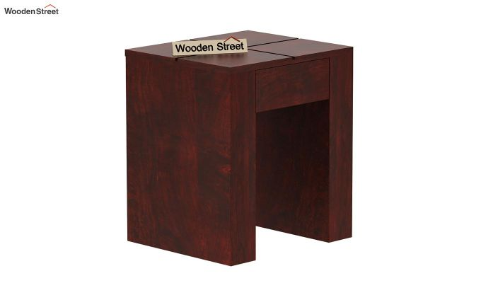 Vadis Chair Side Table (Mahogany Finish)-4