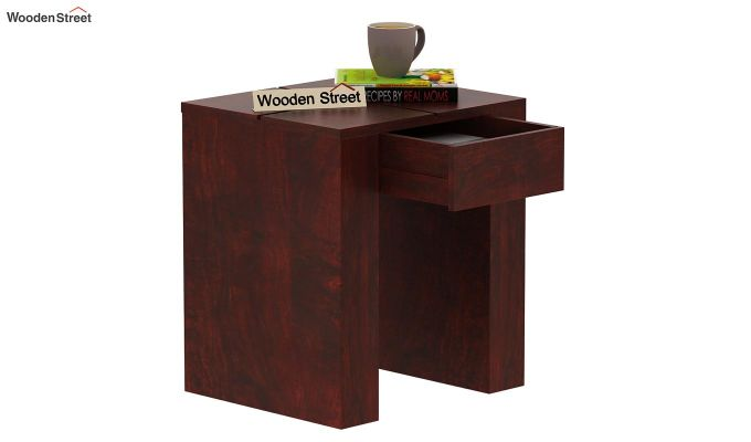 Vadis Chair Side Table (Mahogany Finish)-6