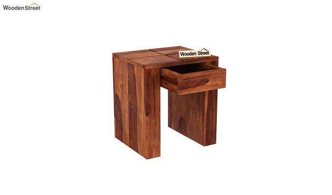 Vadis Chair Side Table (Honey Finish)-4