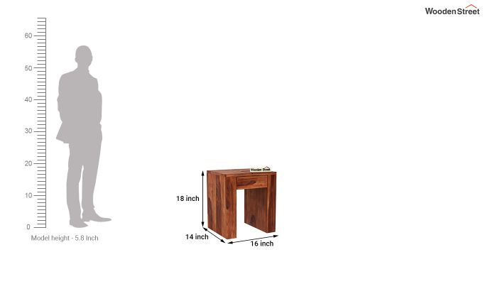 Vadis Chair Side Table (Honey Finish)-5