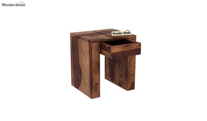 Vadis Chair Side Table (Teak Finish)-4