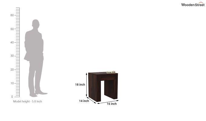 Vadis Chair Side Table (Walnut Finish)-5