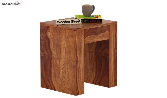 Vadis Chair Side Table (Teak Finish)-1