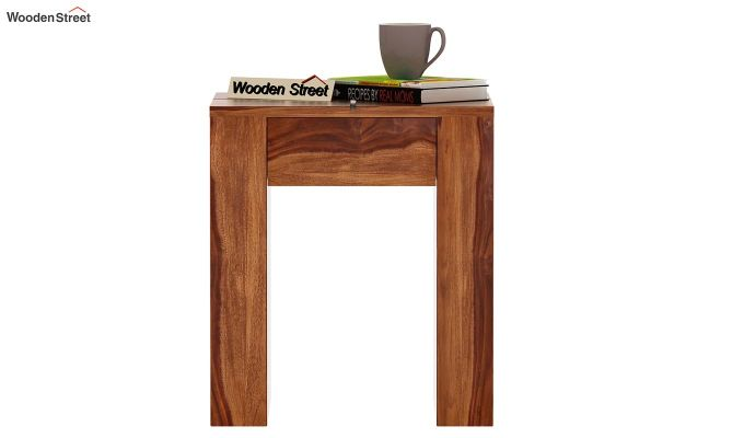 Vadis Chair Side Table (Teak Finish)-2