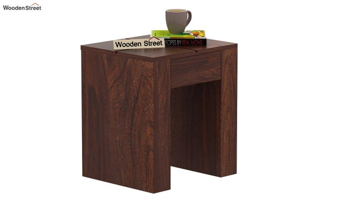 Vadis Chair Side Table (Walnut Finish)-1