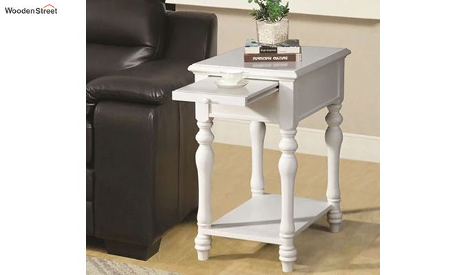 Windsor Side End Table (White Finish)-1