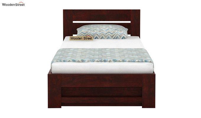Denzel Single Bed With Storage (Mahogany Finish)-4
