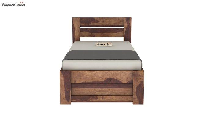 Denzel Single Bed With Storage (Teak Finish)-5
