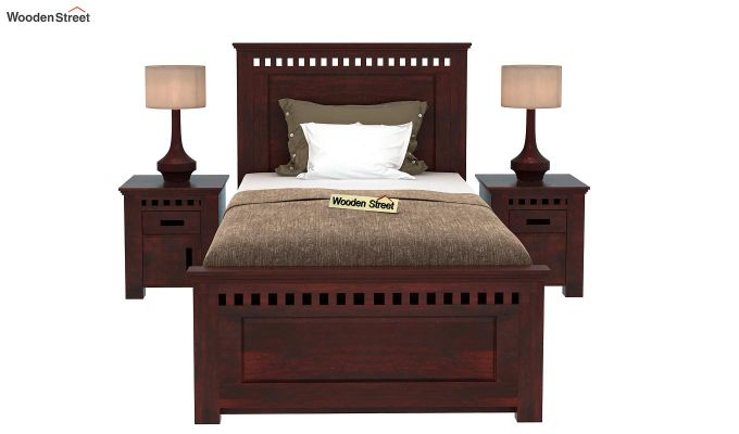 Adolph Single Bed With Storage (Mahogany Finish)-2