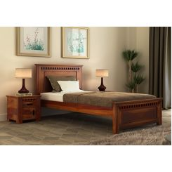 Adolph Single Bed Without Storage (Honey Finish)