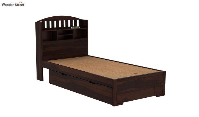 Arista Single Bed With Storage (Walnut Finish)-7