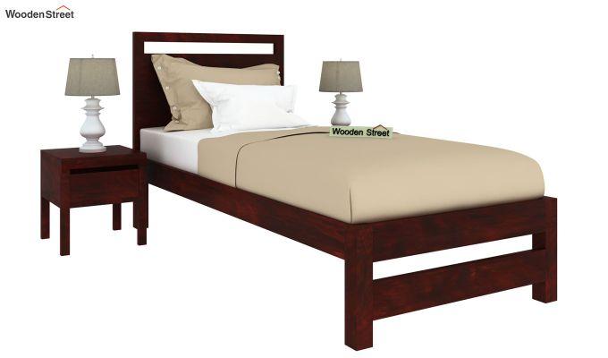 Bacon Single Bed Without Storage (Mahogany Finish)-2