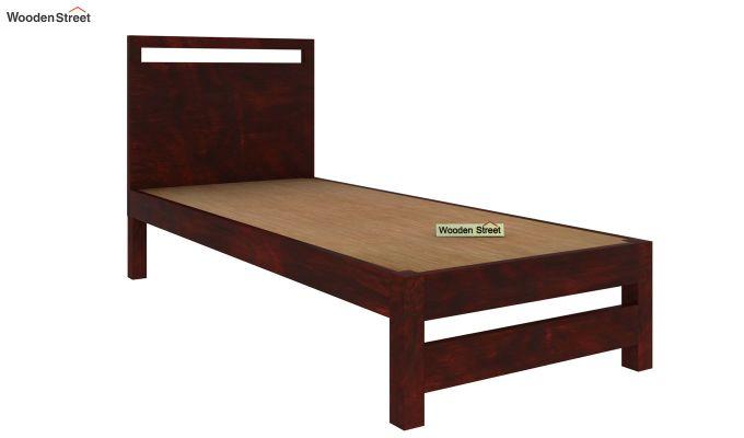 Bacon Single Bed Without Storage (Mahogany Finish)-4