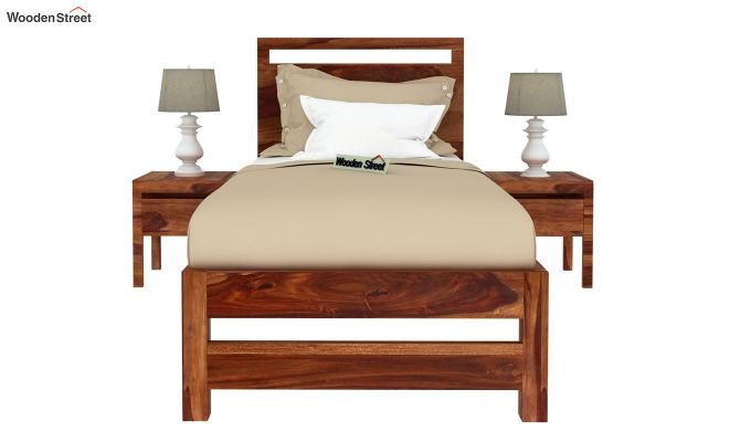 Bacon Single Bed Without Storage (Teak Finish)-3
