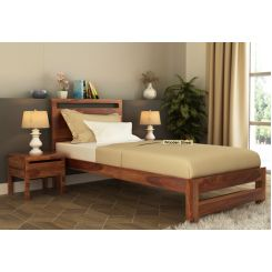 Bacon Single Bed Without Storage (Teak Finish)