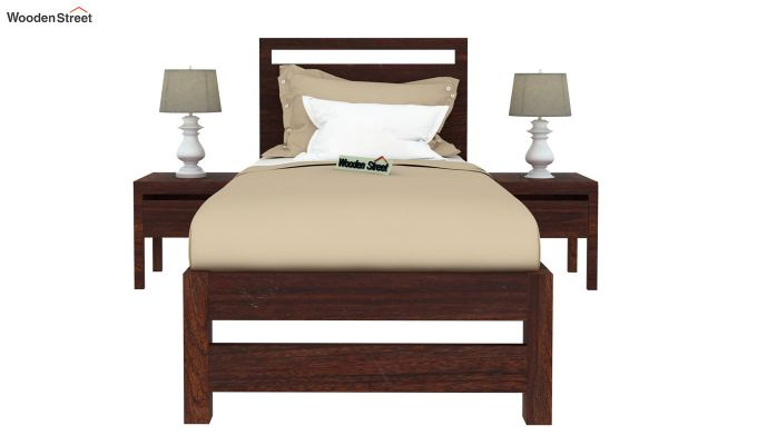 Bacon Single Bed Without Storage (Walnut Finish)-3