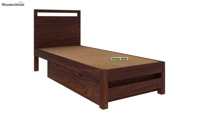 Bacon Single Bed With Storage (Walnut Finish)-5