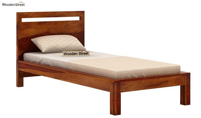Bacon Single Bed Without Storage (Honey Finish)-3