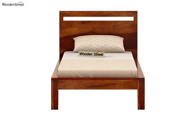 Bacon Single Bed Without Storage (Honey Finish)-4