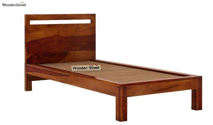 Bacon Single Bed Without Storage (Honey Finish)-5
