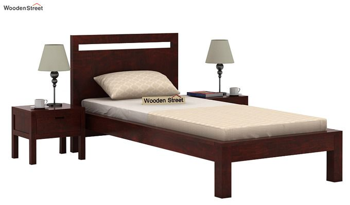Bacon Single Bed Without Storage (Mahogany Finish)-1