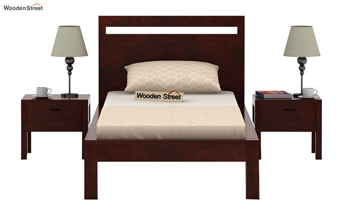 Bacon Single Bed Without Storage (Mahogany Finish)-2