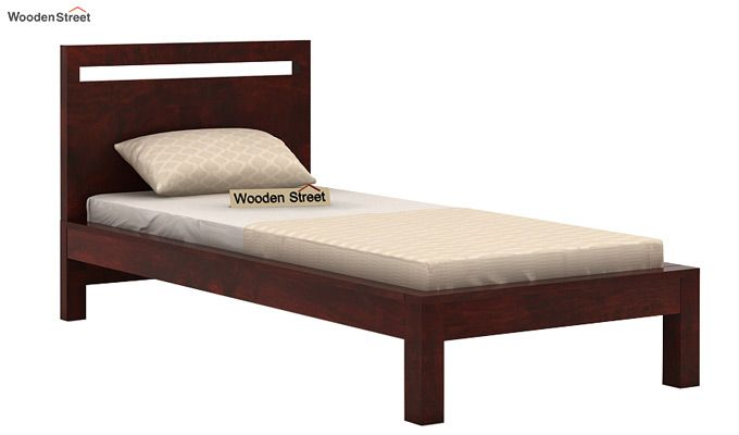 Bacon Single Bed Without Storage (Mahogany Finish)-3