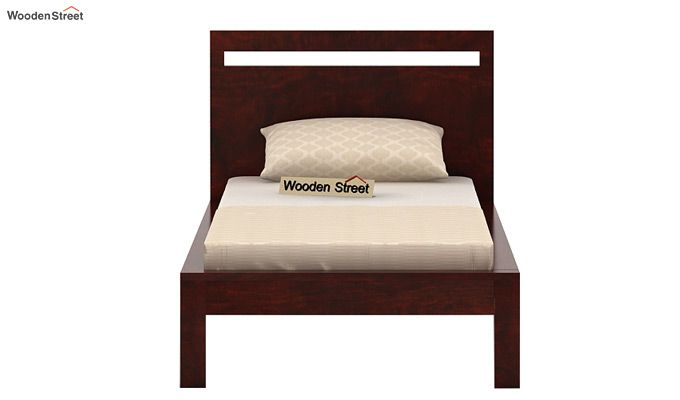 Bacon Single Bed Without Storage (Mahogany Finish)-4