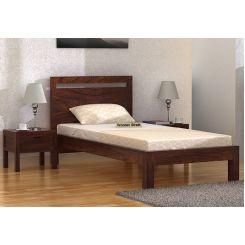 Bacon Single Bed Without Storage (Walnut Finish)