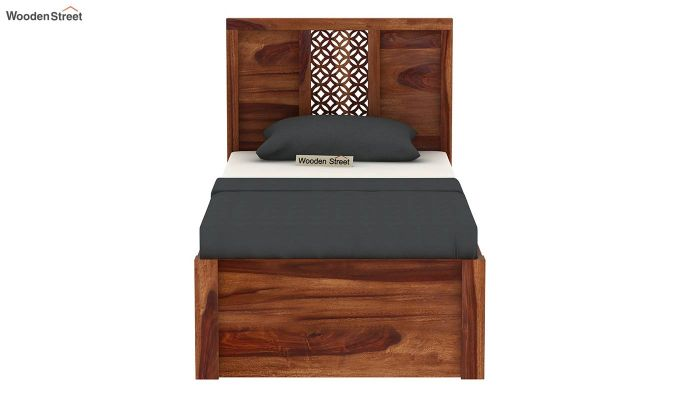 Cambrey Single Bed With Storage (Teak Finish)-7