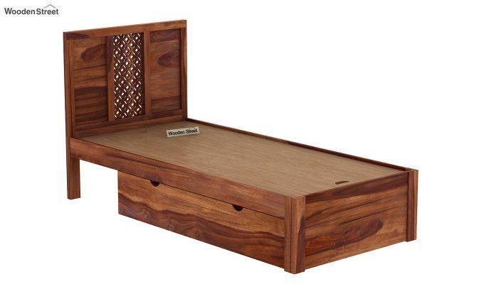 Cambrey Single Bed With Storage (Teak Finish)-8