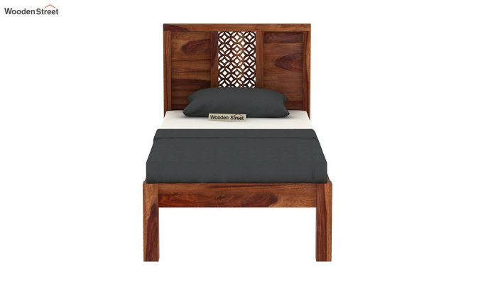Cambrey Single Bed Without Storage (Teak Finish)-5