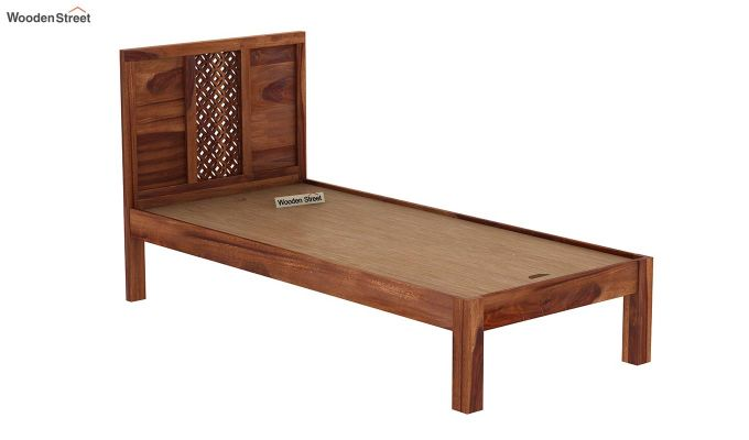 Cambrey Single Bed Without Storage (Teak Finish)-6