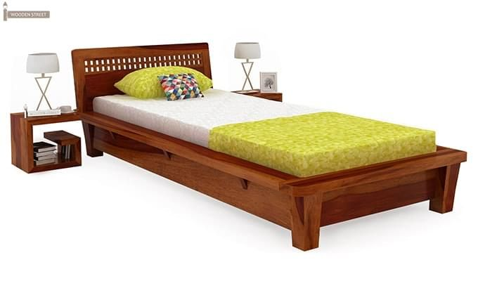 Carden Single Bed (Honey Finish)-1