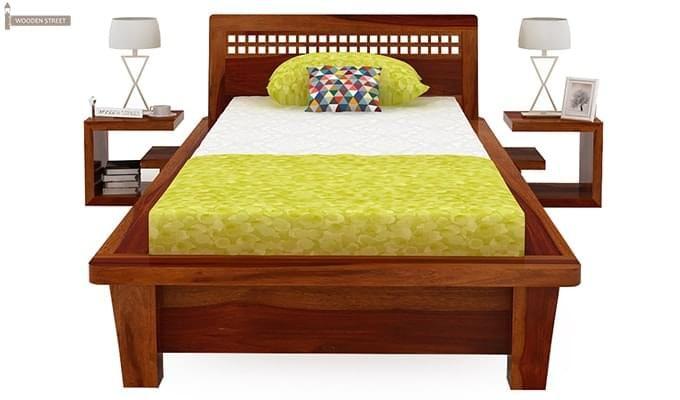 Carden Single Bed (Honey Finish)-3