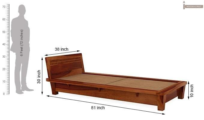 Carden Single Bed (Honey Finish)-7