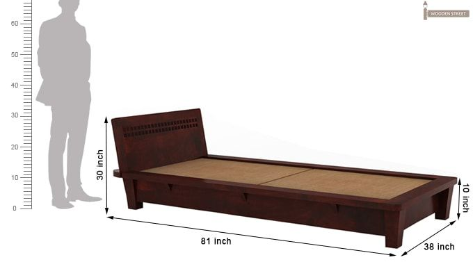Carden Single Bed (Mahogany Finish)-5