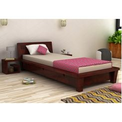 Carden Single Bed (Mahogany Finish)